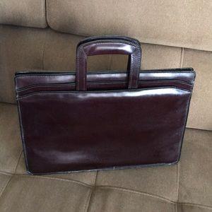 BKK leather brief case/ laptop bag.